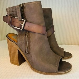 DV chunky peep toe ankle boots